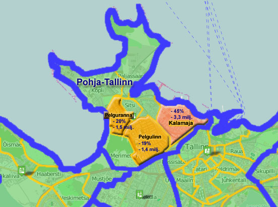 Pohja-Tallinnan pienalue ylsi jo +130% asuntomyynnin kasvuun 2/2014 (y/y)