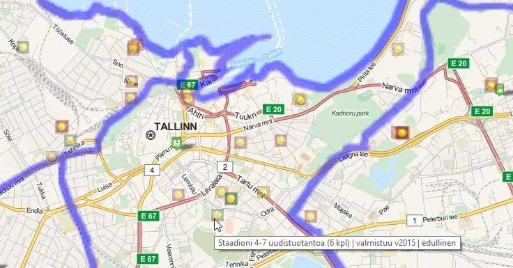 Markkinatarjouksia halvempaa uustuotantoa jo 1/2 Tallinnan alueilla 1/2015