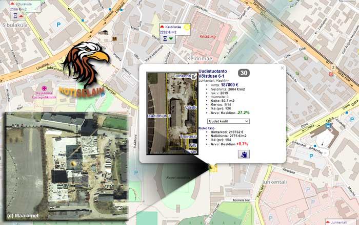 Asuntojen viikkokatsaus (03.09.): myyjien noste teki keskustasta kalleimman